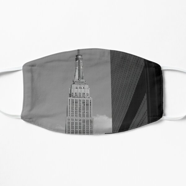 Empire State Building B&W Flat Mask