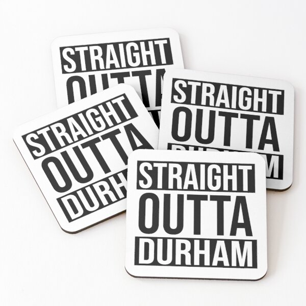 Straight Outta Durham Coasters (Set of 4)
