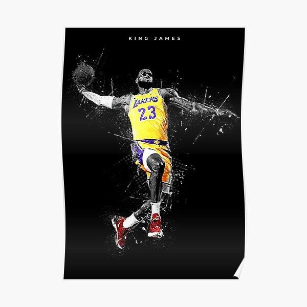 Affiche de Lebron James Los Angeles, impression de basket-ball, affiche d'art mural de sport 2 Poster