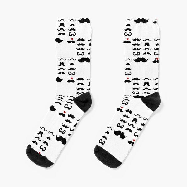 Lustige Movember Schnurrbart Wortspiele Socken