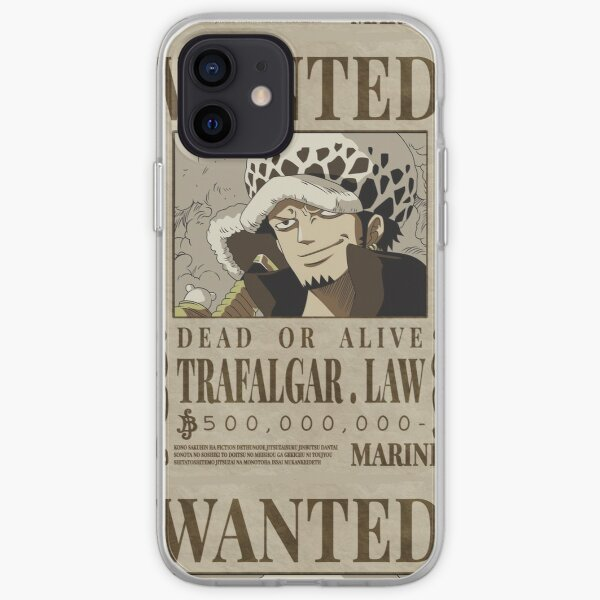 Une pièce - Trafalgar Law Wanted Poster Coque souple iPhone