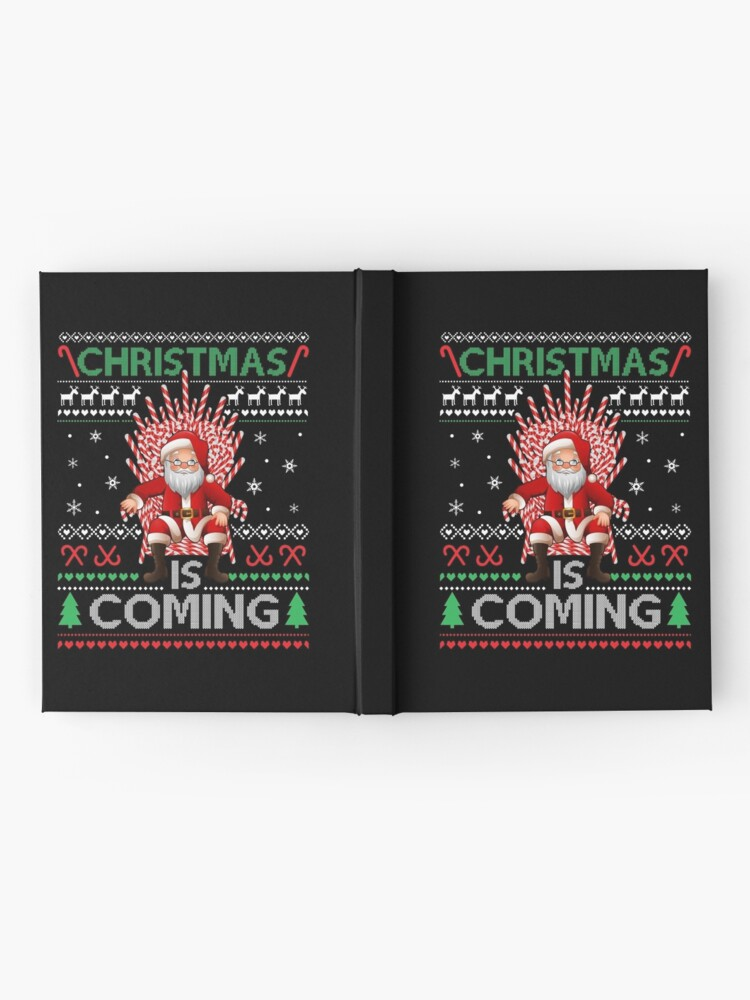 Alternate view of Christmas Is Coming Ugly Sweater Style  Hardcover Journal