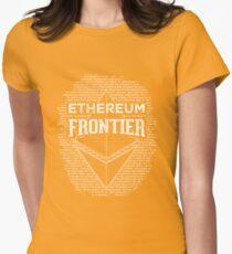Ethereum Frontier (orange) Women's Fitted T-Shirt