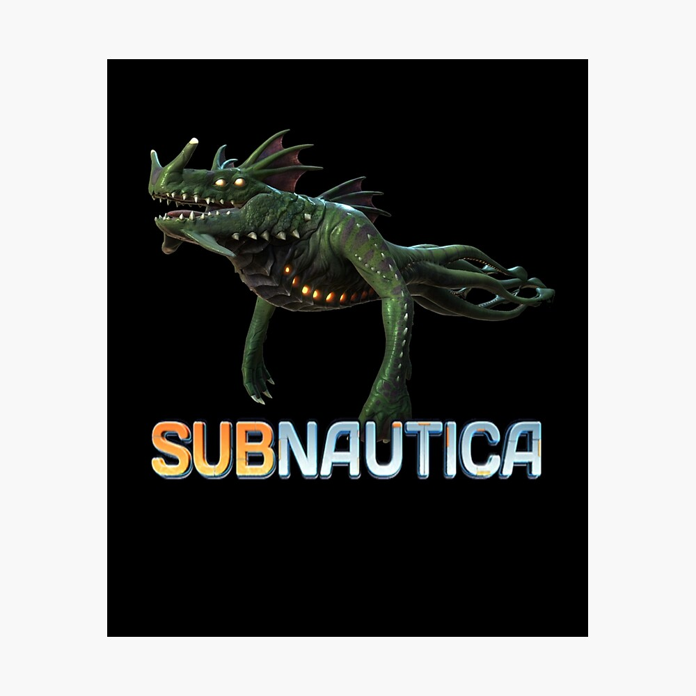 Subnautica Sea Dragon Leviathan Metal Print By Eloisealle Redbubble The sea dragon leviathan is a colossal leviathan class fauna species. redbubble