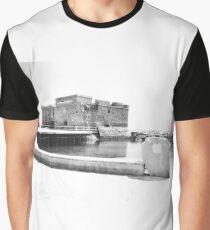 Paphos Castle B&W Graphic T-Shirt