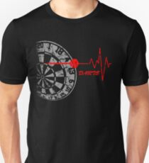 DARTS, Dart Board, heartbeat Unisex T-Shirt