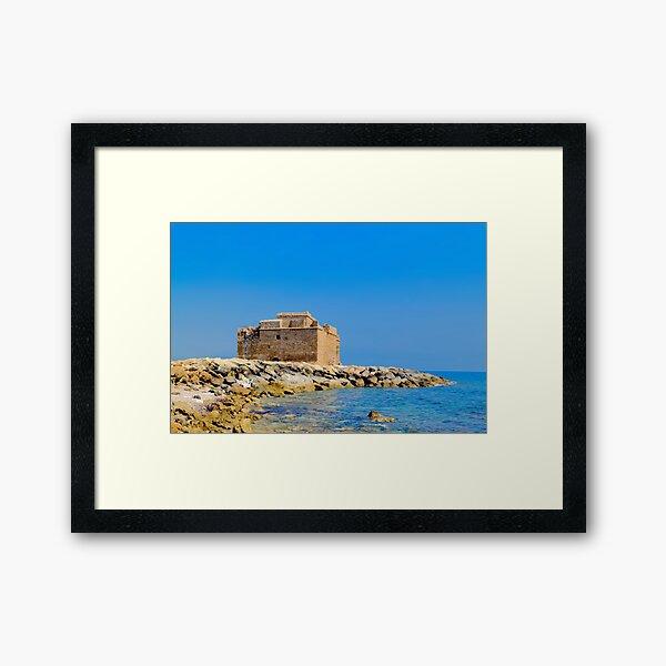 Paphos Castle by Sea Framed Art Print