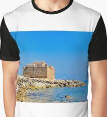 Paphos Castle by Sea Graphic T-Shirt