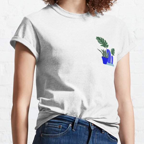 Plantes et Bleu Klein T-shirt classique