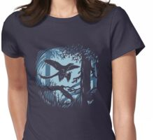 Frosty Microraptor Womens Fitted T-Shirt