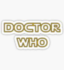 Doctor Who Meets Star Wars Sticker