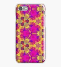 Pink and yellow geometric stainglass iPhone Case/Skin