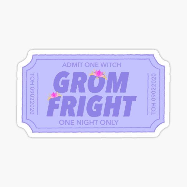 toh - grom fright ticket Sticker