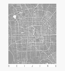 Beijing map grey Photographic Print