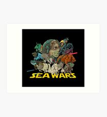 SEA WARS! Art Print