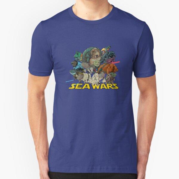 SEA WARS! Slim Fit T-Shirt