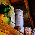 Baskets and Barrels in Attic by Susan Savad