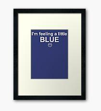 Feelings: Blue Framed Print
