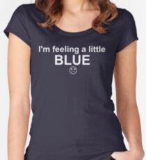 Feelings: Blue Women's Fitted Scoop T-Shirt