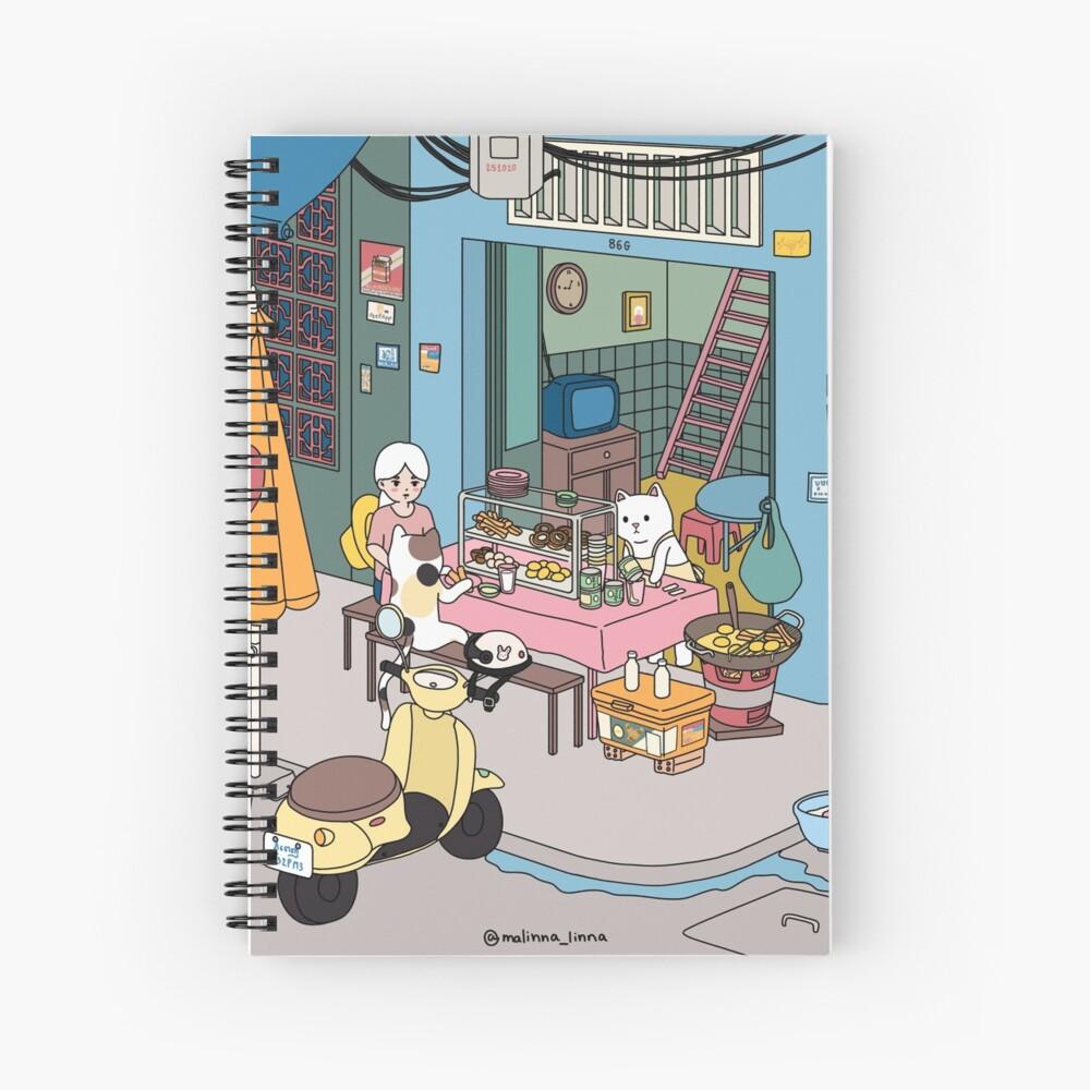 -Snack Stall Spiral Notebook
