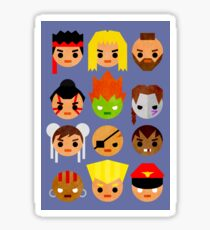 Street Fighter 2 Mini Sticker