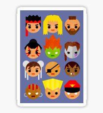 Street Fighter 2 Mini Sticker