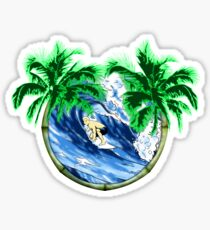 Tropical Surfer Sticker