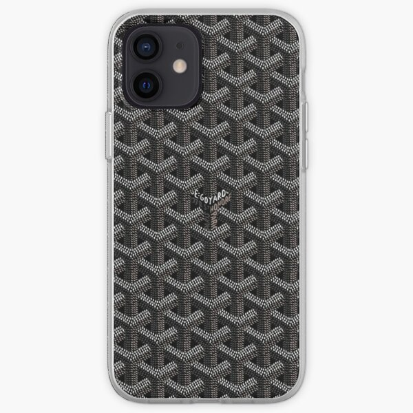 Black goyard  iPhone Soft Case
