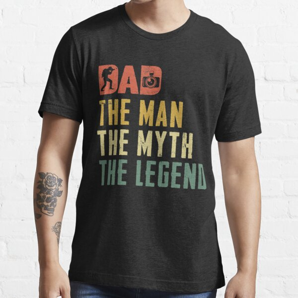 Camera Dad The Man The Myth The Legend Vintage  Essential T-Shirt