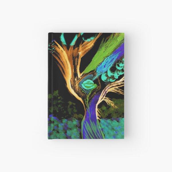 Dancing Tree Peacock 2 Hardcover Journal