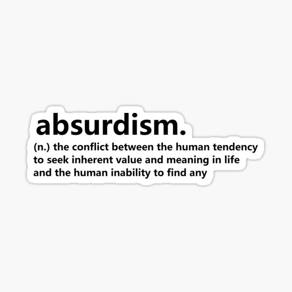 Dictionary Collection - Absurdism Sticker