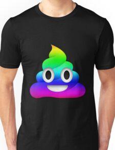 Rainbow Smiling Poop Emoji Unisex T-Shirt