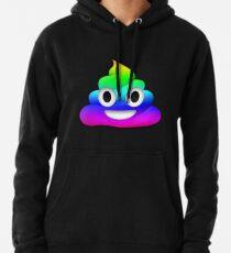 Rainbow Smiling Poop Emoji Pullover Hoodie