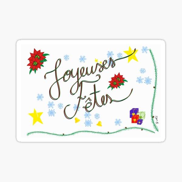 Carte De voeux - Joyeuses fêtes Sticker