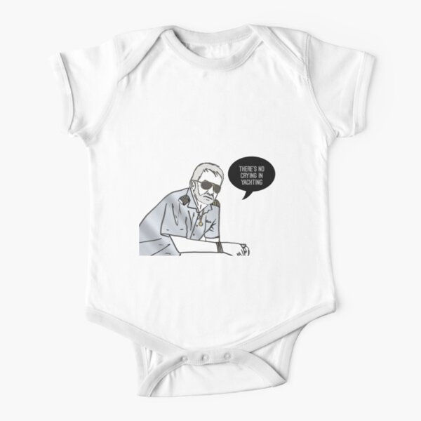 No Crying in Yachting Short Sleeve Baby One-Piece
