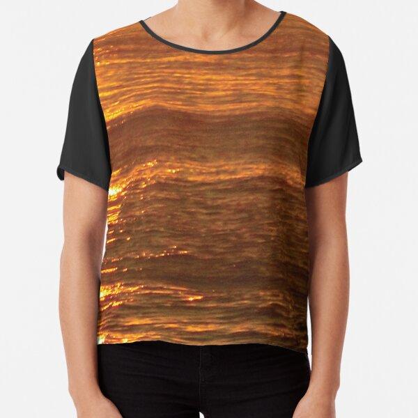 Golden Waves Chiffon Top