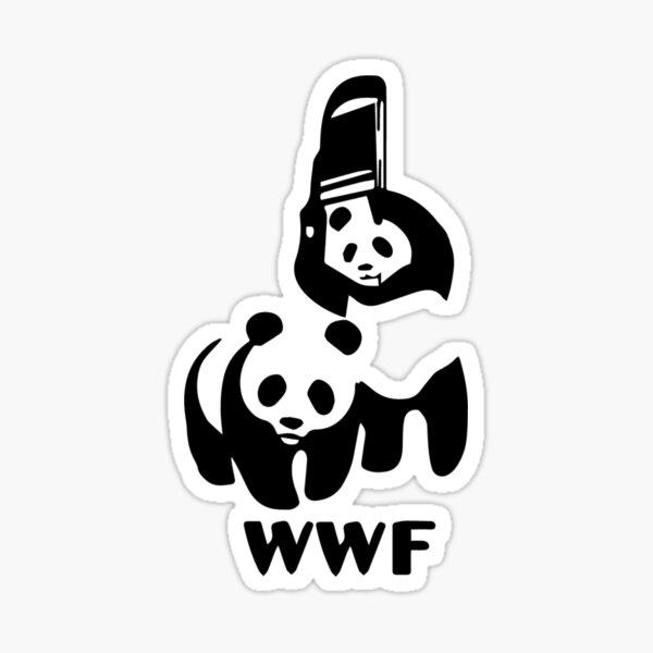 Panda Wrestling Sticker