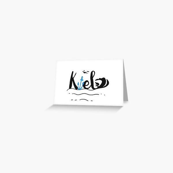 Kieler Surfer Grußkarte