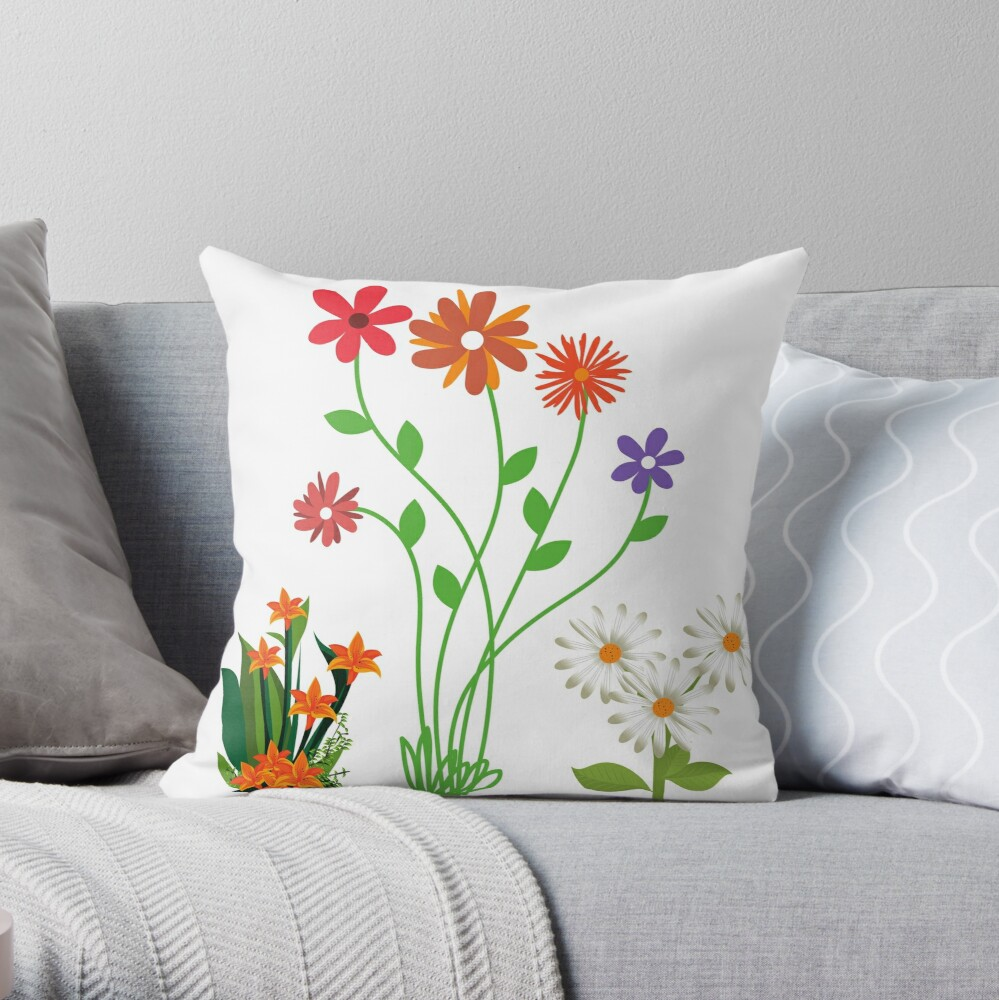Floral arrangement pillow