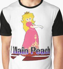 I Main Peach - Super Smash Bros Melee Graphic T-Shirt