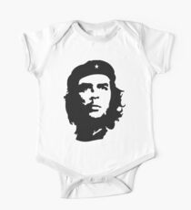 CHE, Che Guevara, Revolution, Marxist, Revolutionary, Cuba, Power to the people! Black on White One Piece - Short Sleeve