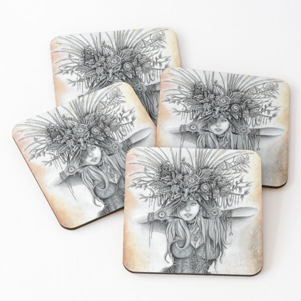 Stretch Your Eyes, Absurd Art Coasters (Set of 4)