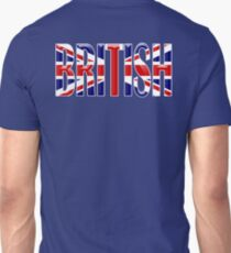 BRITISH, Union Jack, Patriot, Britain, England, Scotland, Ireland, Wales. UK, Navy, Blue T-Shirt