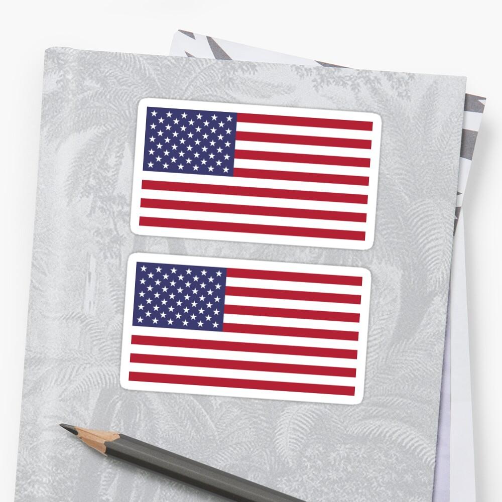 PegatinaBandera de Estados Unidos × 2 Delante