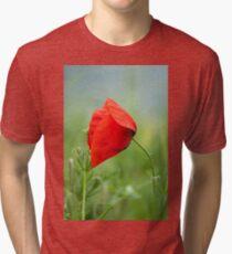 Wild red poppy Tri-blend T-Shirt