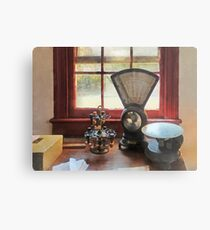 Postal Scale and Rubber Stamps Metal Print