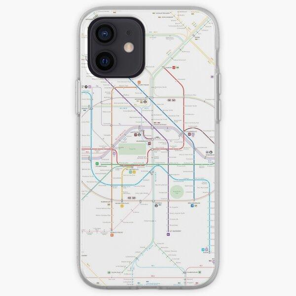 Berlin U-Bahn S-Bahn map iPhone Soft Case