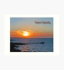 Deepest Sympathy Sunset Greeting Card Art Print