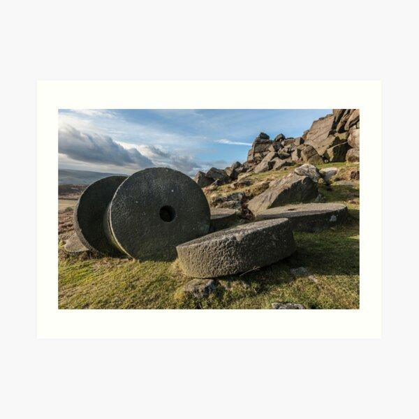 Stanage Edge Stone Wheels Art Print