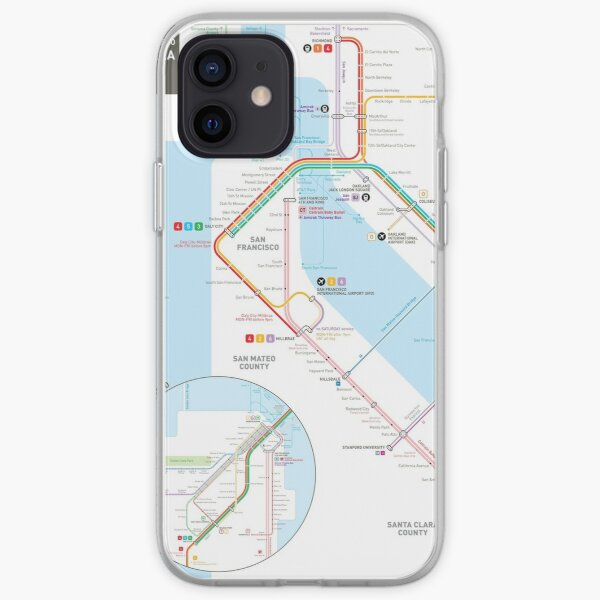 San Francisco Bay Area Transit Map iPhone Soft Case